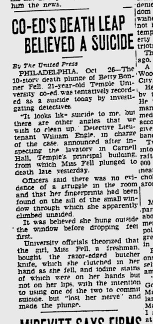 Yes, it's an actual newspaper article from the 30s.